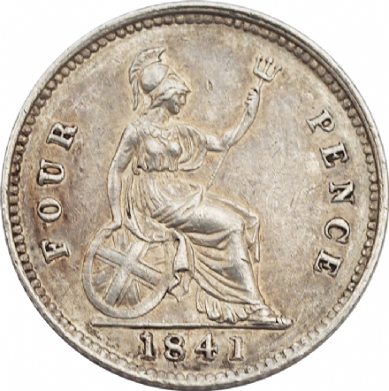 Victoria Silver Groat or Fourpence 1838-1855